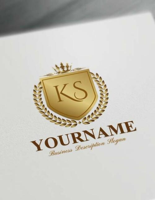 Royal Gold Luxurious Heraldic Logo Design Free Vintage Heraldry Logo Maker