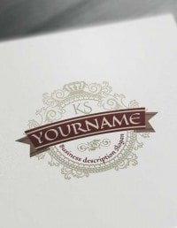 Build your own Luxurious Logo with the free vintage logo maker