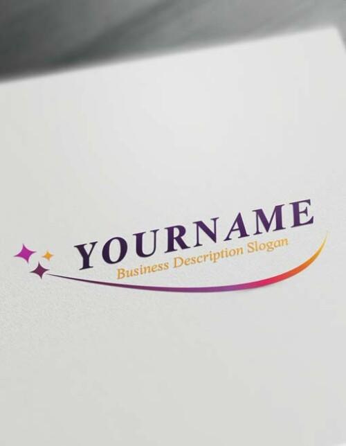 Purple sparkly wave logo maker