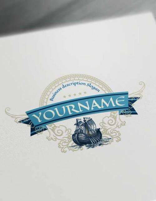 sailing logo Free Vintage logo maker Luxurious Vintage Logo