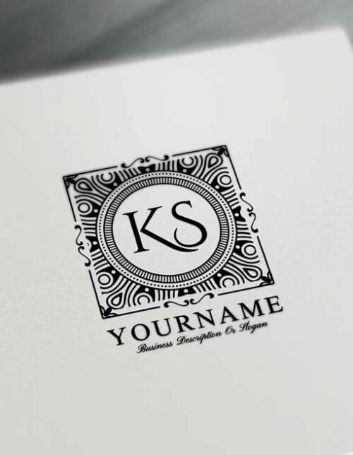 Pattern Letters Logo Design Free Alphabet Logo Maker Online