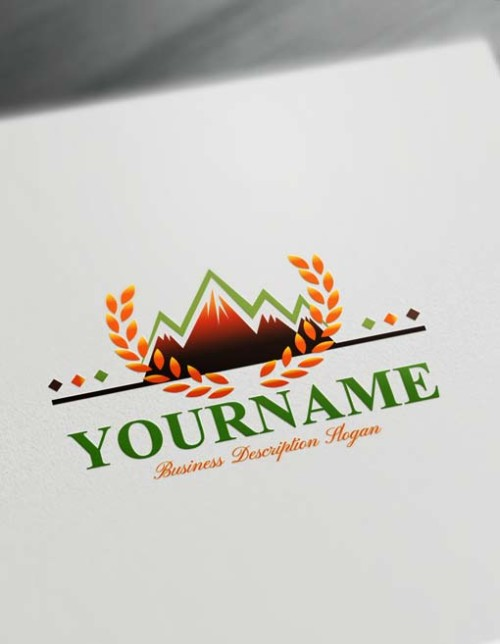 Create online snow green mountain Logo design - Free Logo Maker