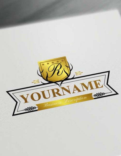 Online gold Deer Logo Design Free Vintage antler Logo Maker