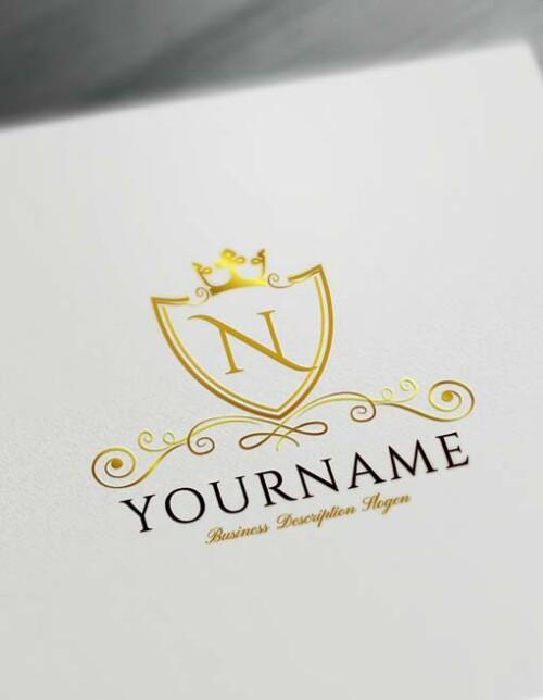 Online Luxurious Royal Logo Design Free Logo Maker Gold crown logo