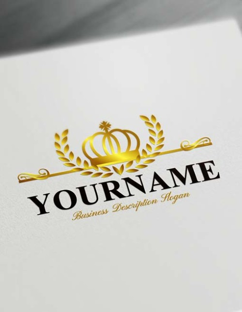 gold crown king logo free logo maker