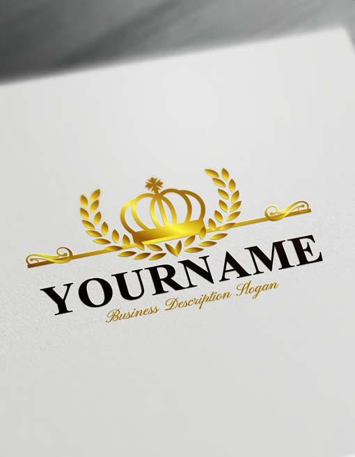 gold crown king logo free logo maker