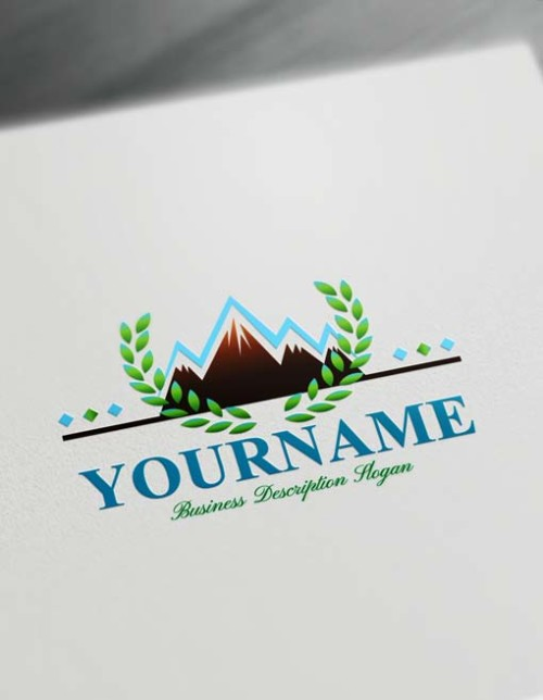 Create online snow mountain Logo design - Free Logo Maker