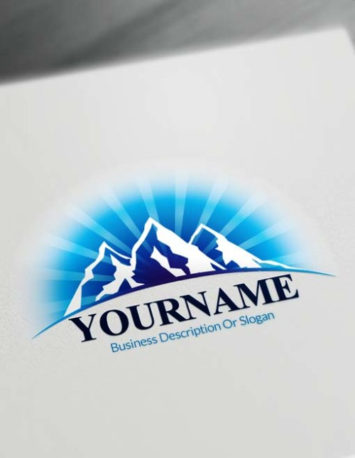 Create online desert snow mountains Logo design - Free Logo Maker