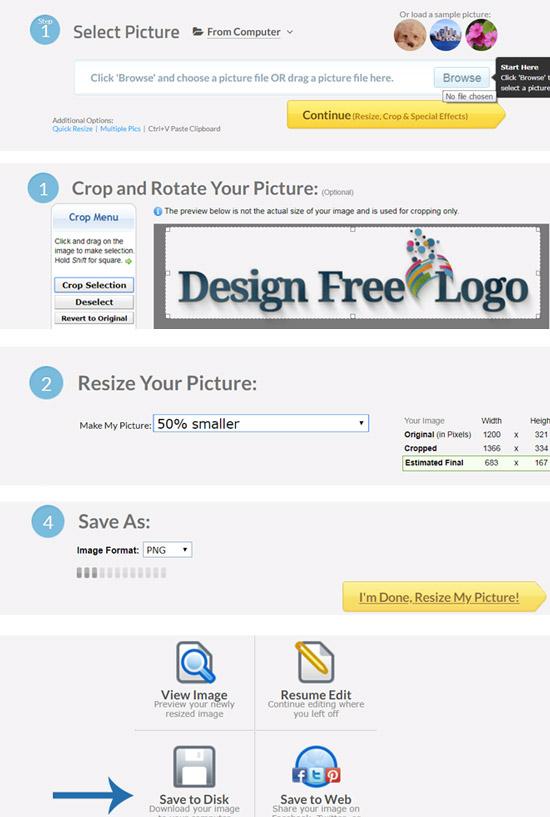 Resize your Logo image