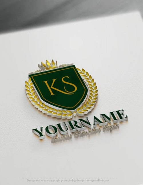 royal green Luxurious Heraldic Logo Design Free Vintage Heraldry Logo Maker