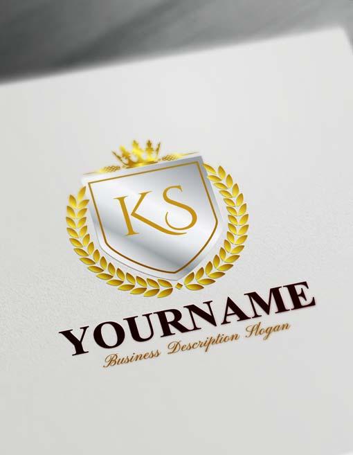 royal silver Luxurious Heraldic Logo Design Free Vintage Heraldry Logo Maker