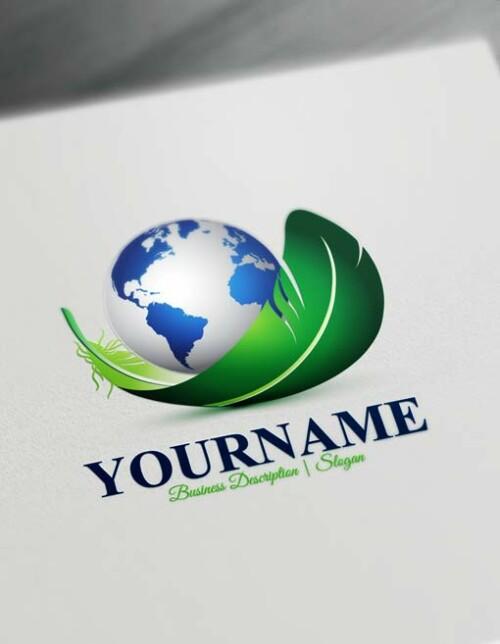 Free Globe Logo Maker - Modern 3D Globe Logo Creator