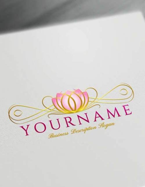 Decorative Lotus Logo Design Free Lotus Logo Maker Online