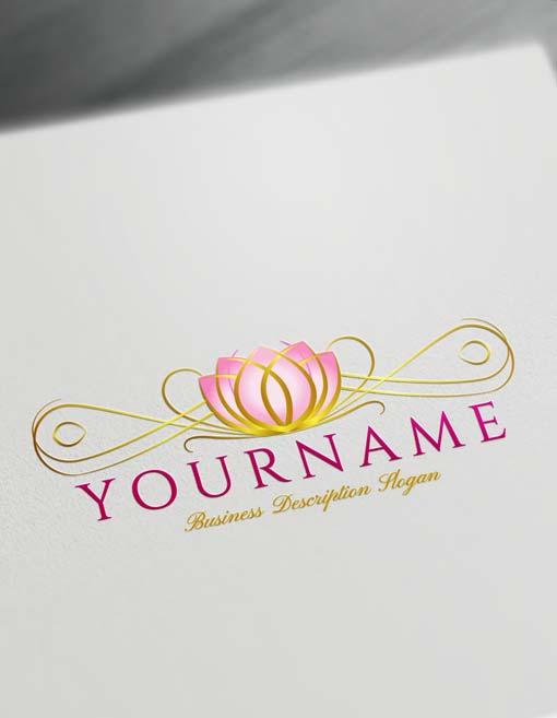 Decorative Lotus Logo Design Free Lotus Logo Maker Online