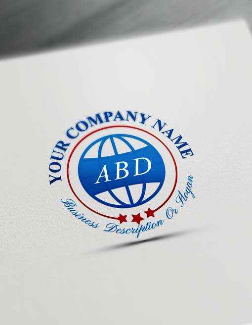 Globe Iso Logo Design Free Stamp Logo Maker Online