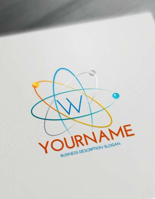 Best Online Logo Creator Science Atom Logo Maker