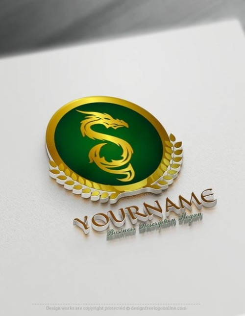 Green Dragon Logo Maker - Create Your Own Fire Dragon Logo