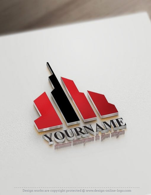 Brad Your business with our freeRealty Logocreator