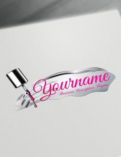 Create Your Own silver nail artist Logo Free with nails Logo maker