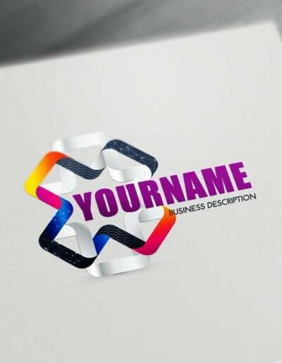 Online 3D Logos - Modern 3D Connection Logo Maker