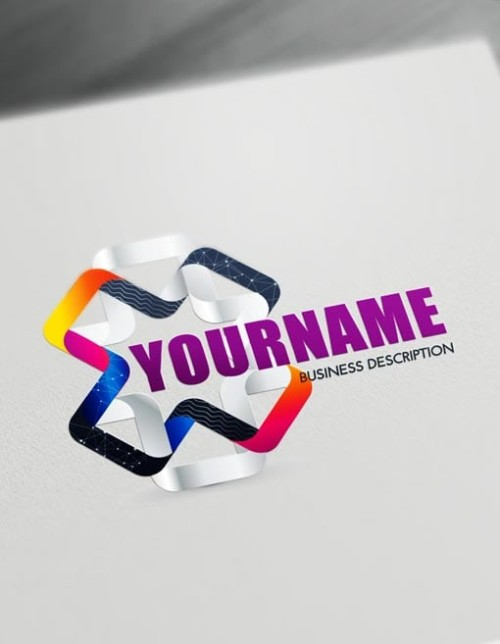 Online 3D Logos - Modern 3D Connection Logo Maker