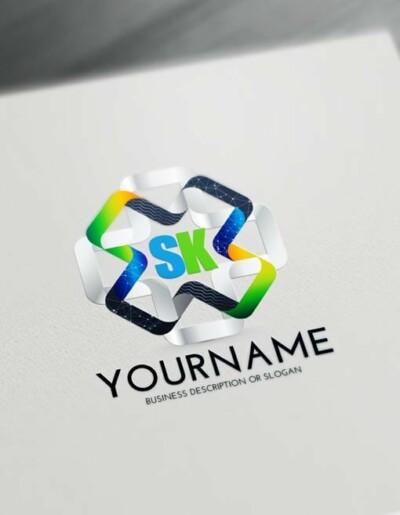 Free 3D Logo Maker - Modern 3D Connections Logo Creator