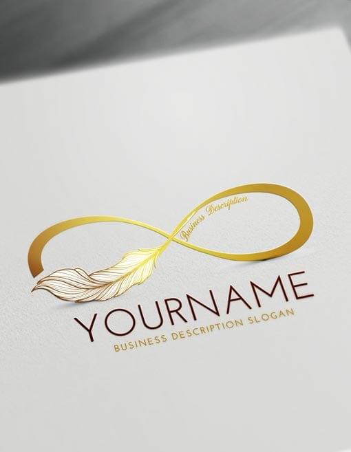 Gold Infinity Logo Creator Make online Infinity symbol