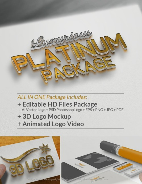 Upgrade Your Logo - ALL-IN-ONE Luxurious Platinum Package