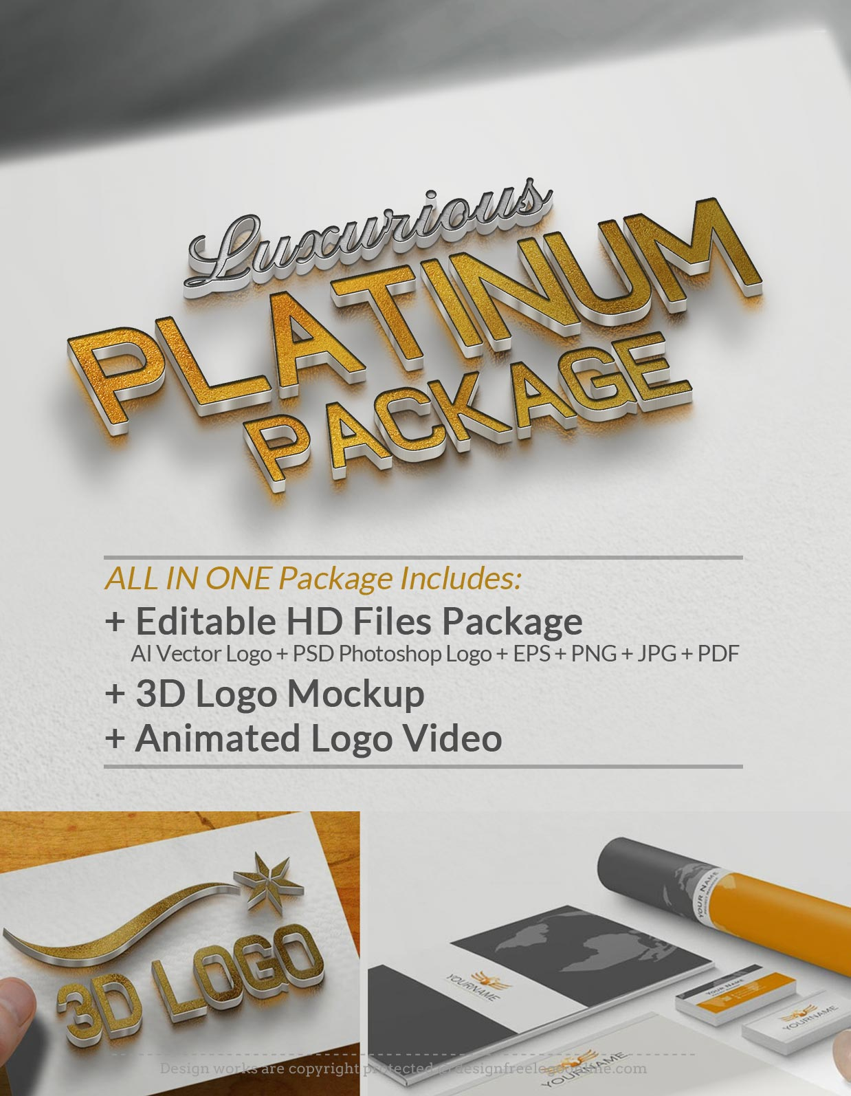 Upgrade Your Logo ALL-IN-ONE Luxurious Platinum Package