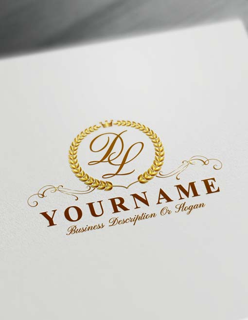 Make logo online Laurel Wreath Logo Template Free Letters Logo Maker
