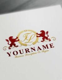 Make logo online - Royal Lions Logo Template Free Letters Logo Maker