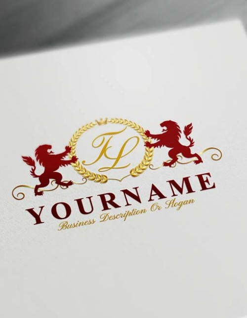 Make logo online - Royal Lions Logo Template Free Letters Logo Maker