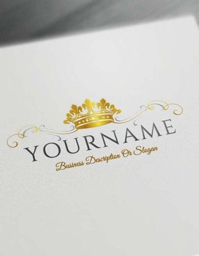 Make logo online - King Crown Logo Template Heraldic Free Logo Maker