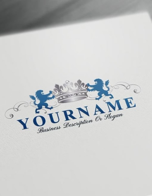Make our own Silver Diamonds Crown Logo with the free Vintage logo maker