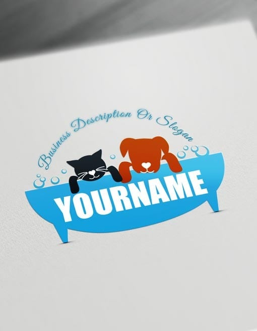 Pet wash Logo Design – Free Grooming Pet Logo Maker Online