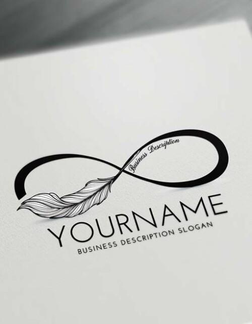 Free black tattoo Infinity Logo Creator Make online Infinity symbol