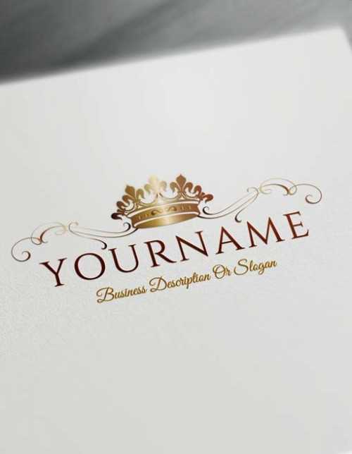 Make logo online - bronze Crown Logo Template Heraldic Free Logo Maker