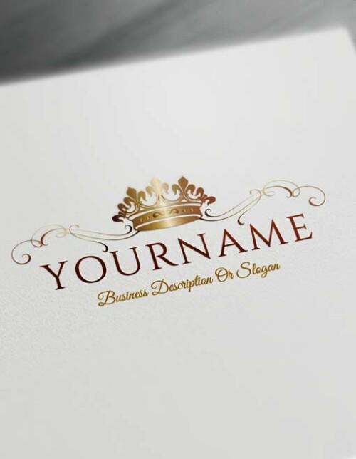 Make logo online - bronze Crown Logo Template Heraldic Free Logo Maker