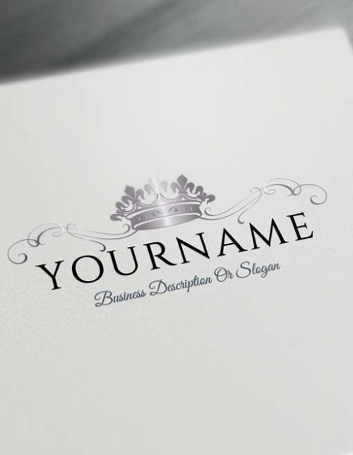 Make logo online - silver Crown Logo Template Heraldic Free Logo Maker