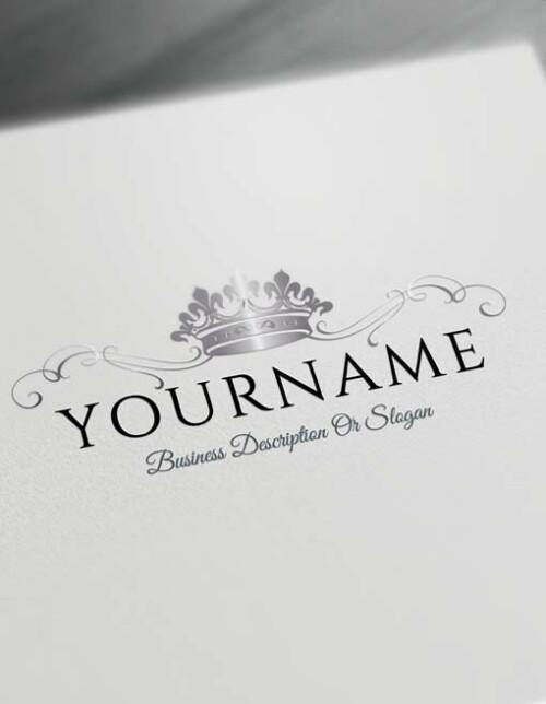 Make logo online - silver Crown Logo Template Heraldic Free Logo Maker