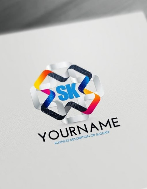 Free 3D Logo Maker - Modern 3D Connections Logo Creator