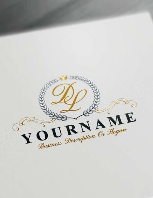 Make logo online Laurel Wreath Logo Template Free Letters Logo Maker