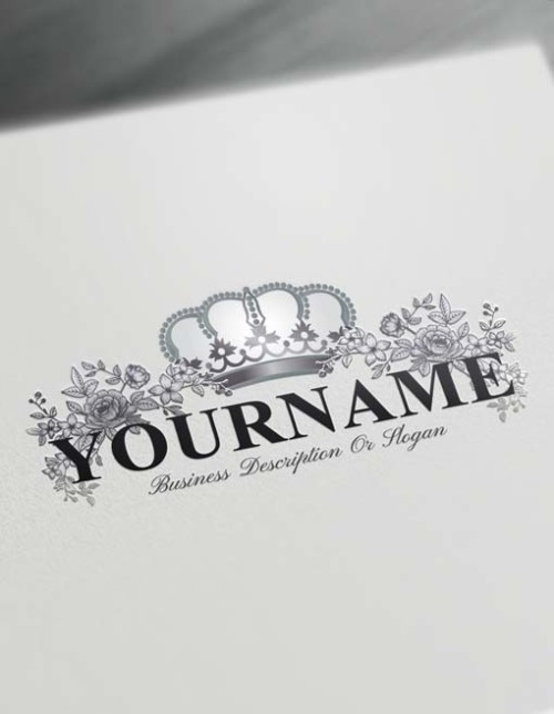 Online Roses Logo Template Free Royal Crown Vintage Logo Maker
