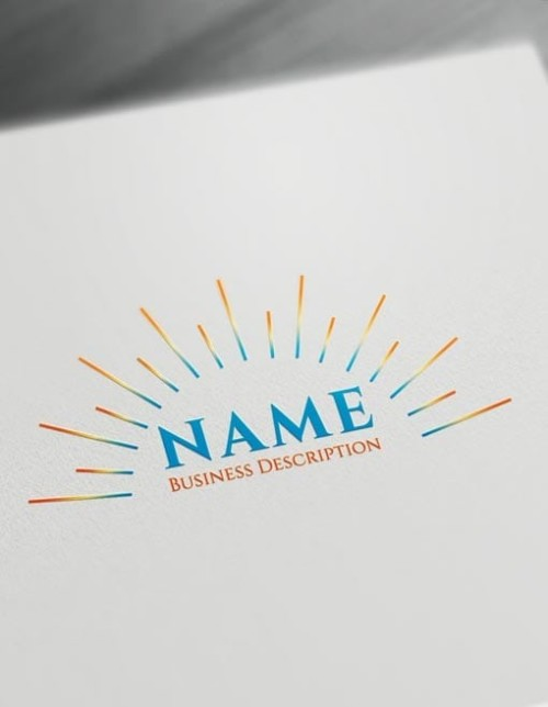 Make Sunrise Logo online with Free sun Logo Maker