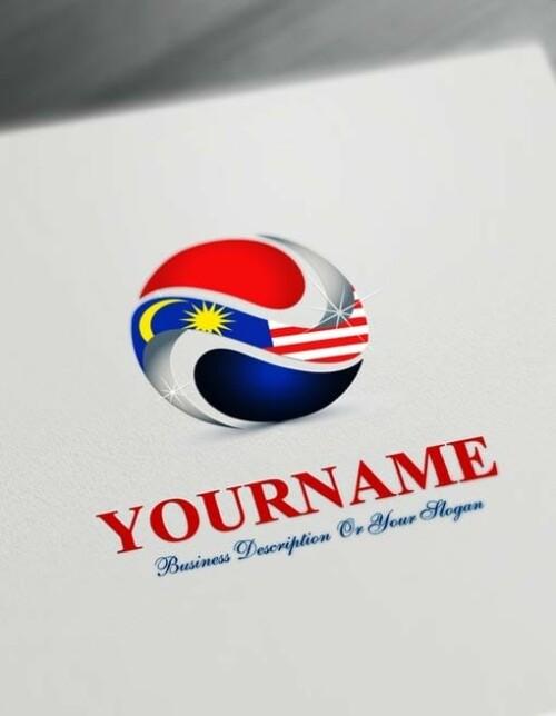 Free Logo Maker - Online Malaysia Flag Logo Template