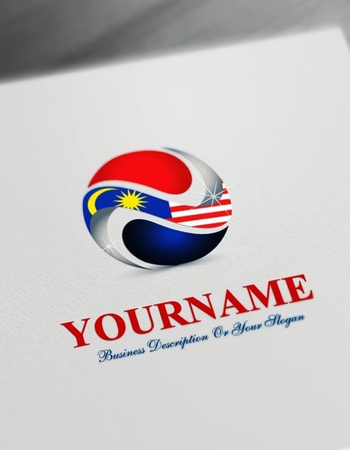 Free Logo Maker - Online Malaysia Flag Logo Template