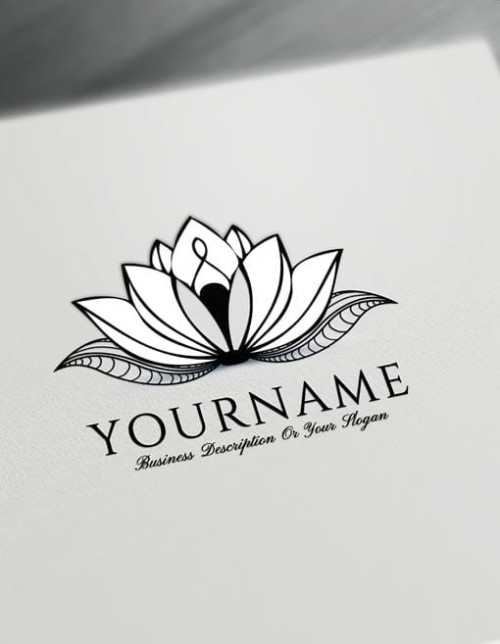 Lotus Tattoo Design Free Lotus Logo Maker Online