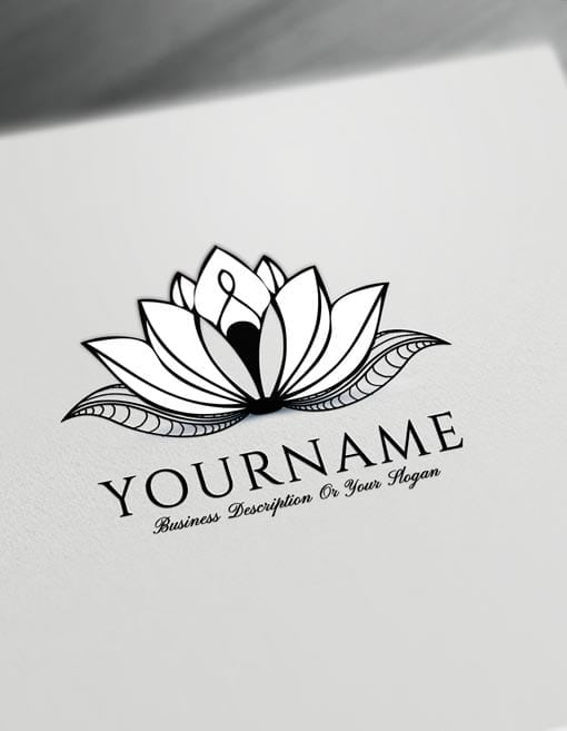 Lotus Tattoo Design Free Lotus Logo Maker Online