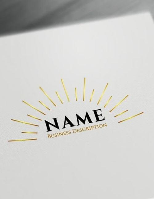 Gold Sunrise Logo online with Free sun Logo Maker