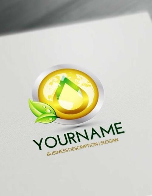 Golden Globe Drop Logo Free Logo Maker